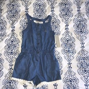 New with Tags, girls denim romper